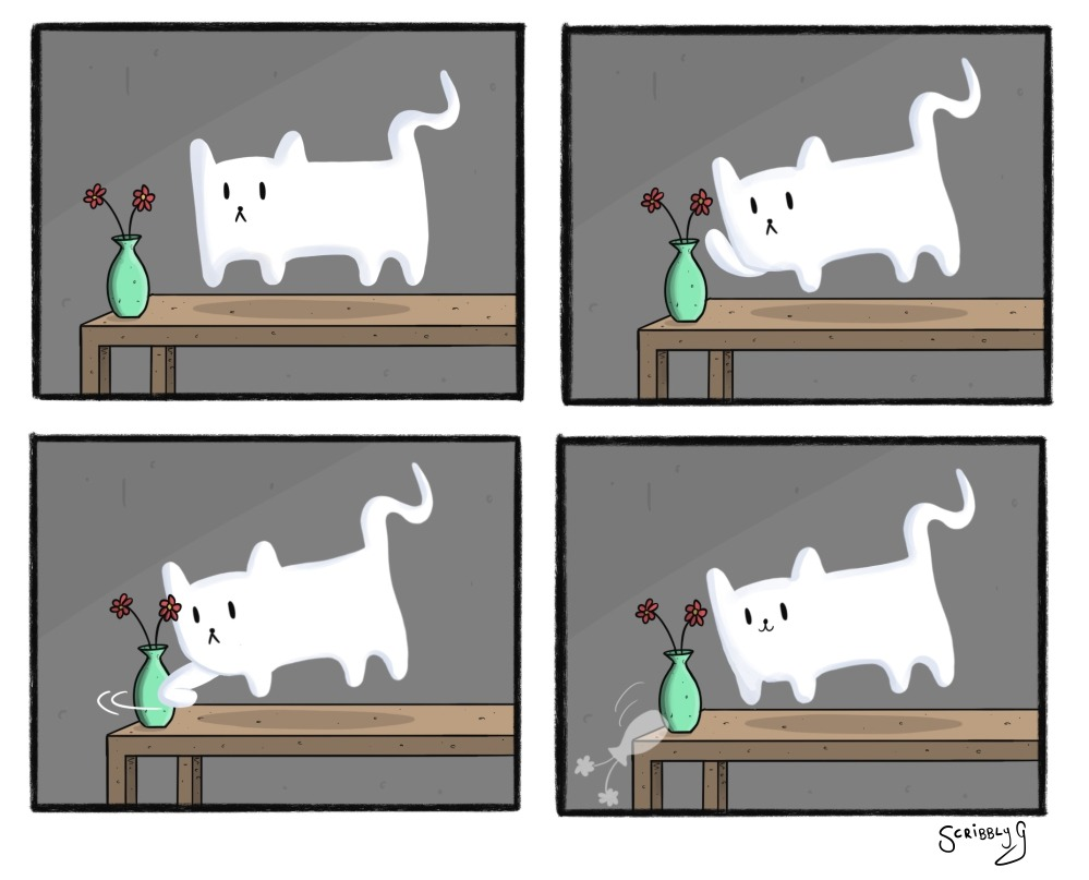 ghost kitty happy version