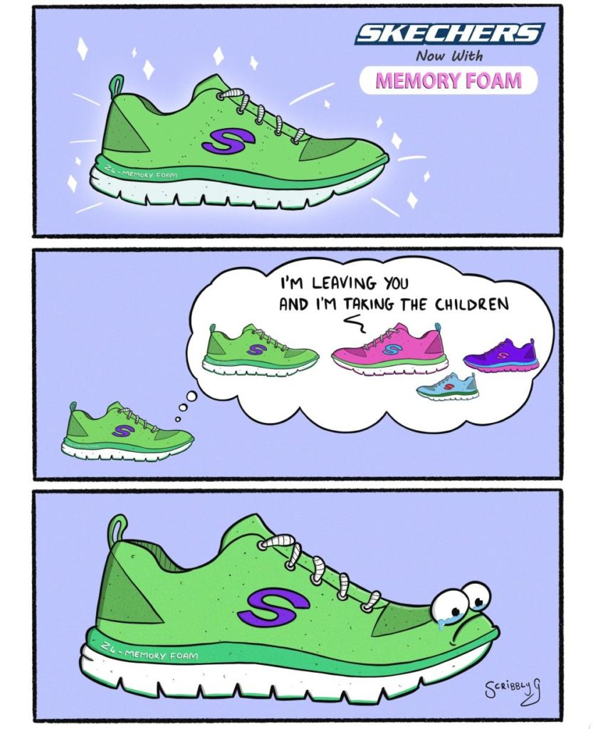new skechers shoes with memory foam comic