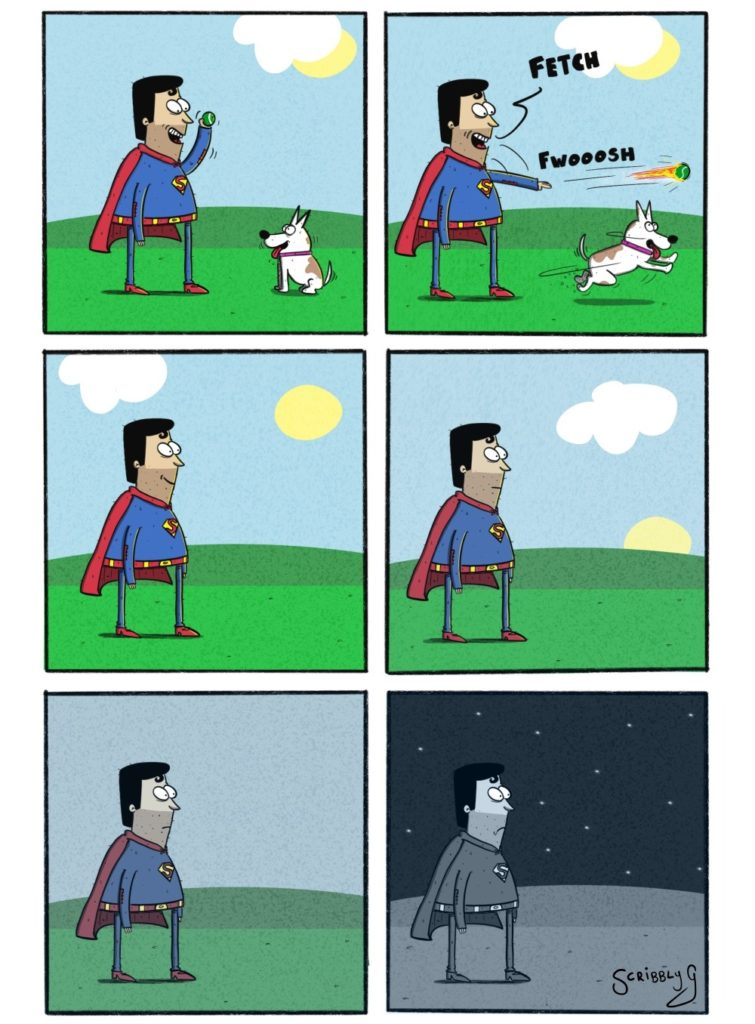Superman goes to the park again
